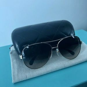 Chanel aviator sunglasses.